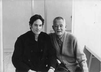 Barry shown here on the set when he worked with Japan's great actor Ryu Chisu, star of director Yasujiro Ozu's masterpiece, Tokyo Story.